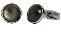 Simon Carter Grey Mother of Pearl Cufflinks